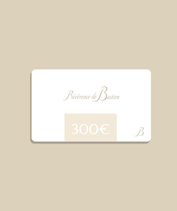 Carte cadeau Révérence de Bastien